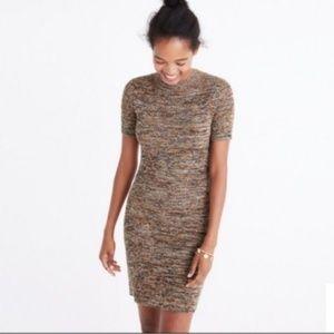 madewell Smocked neck shortsleeved sweater dress